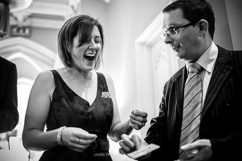 wedding guest amazed at magician