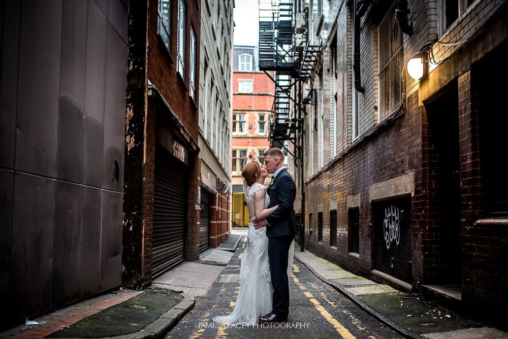 city centre wedding photo