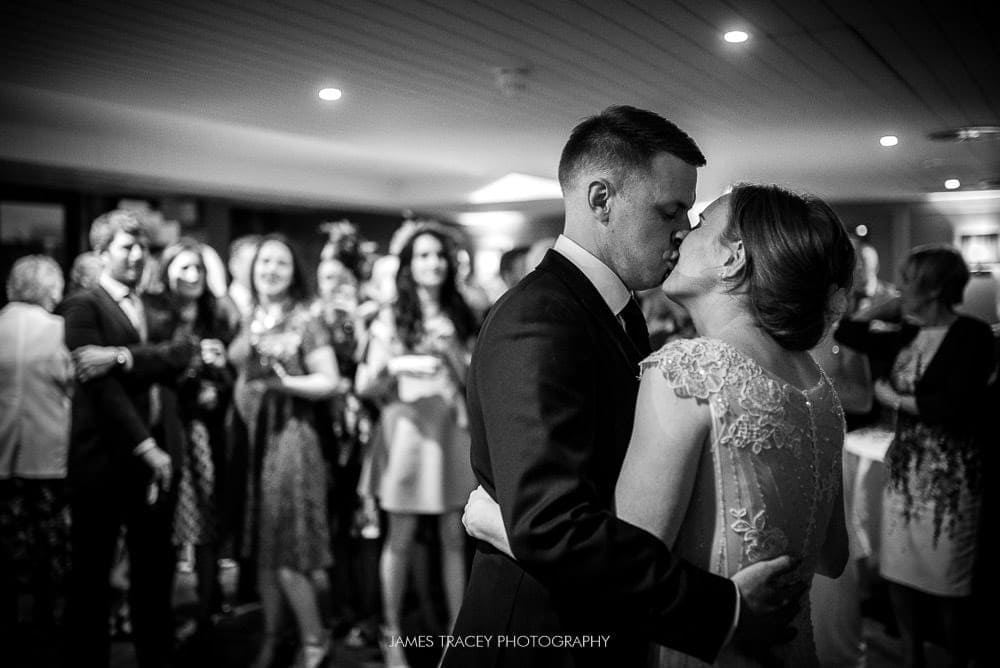 wedding kiss at first dance