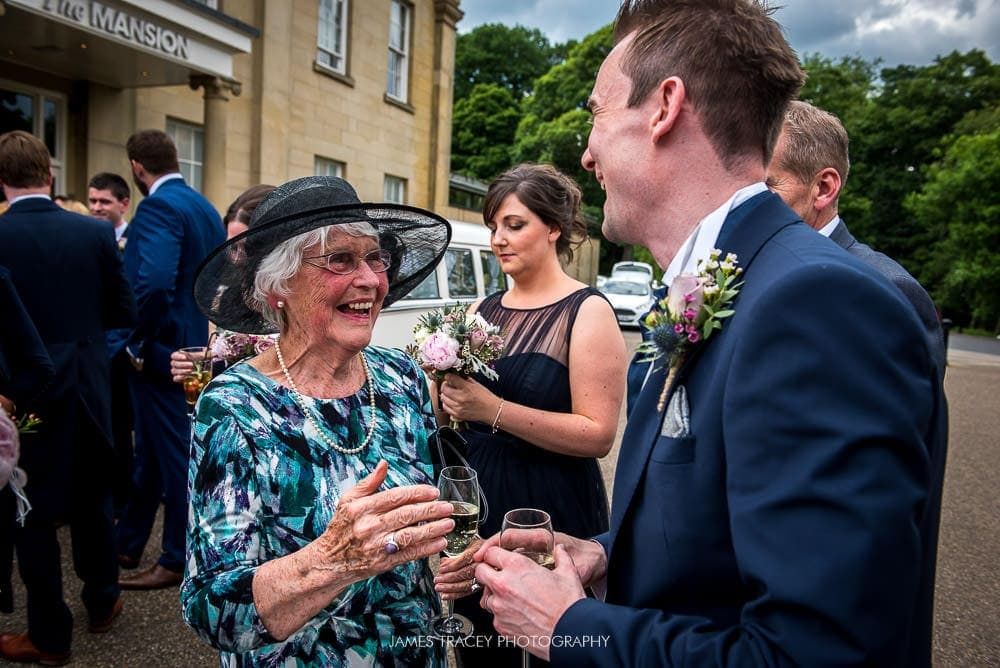 happy grandma at wedding
