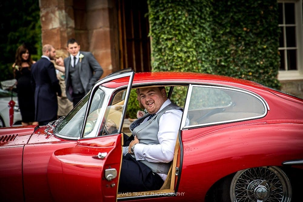 groom in classic jag