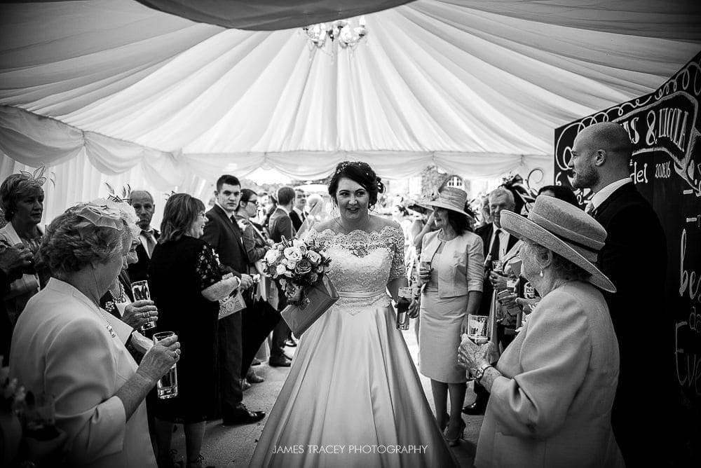 bride arriving at the citadel