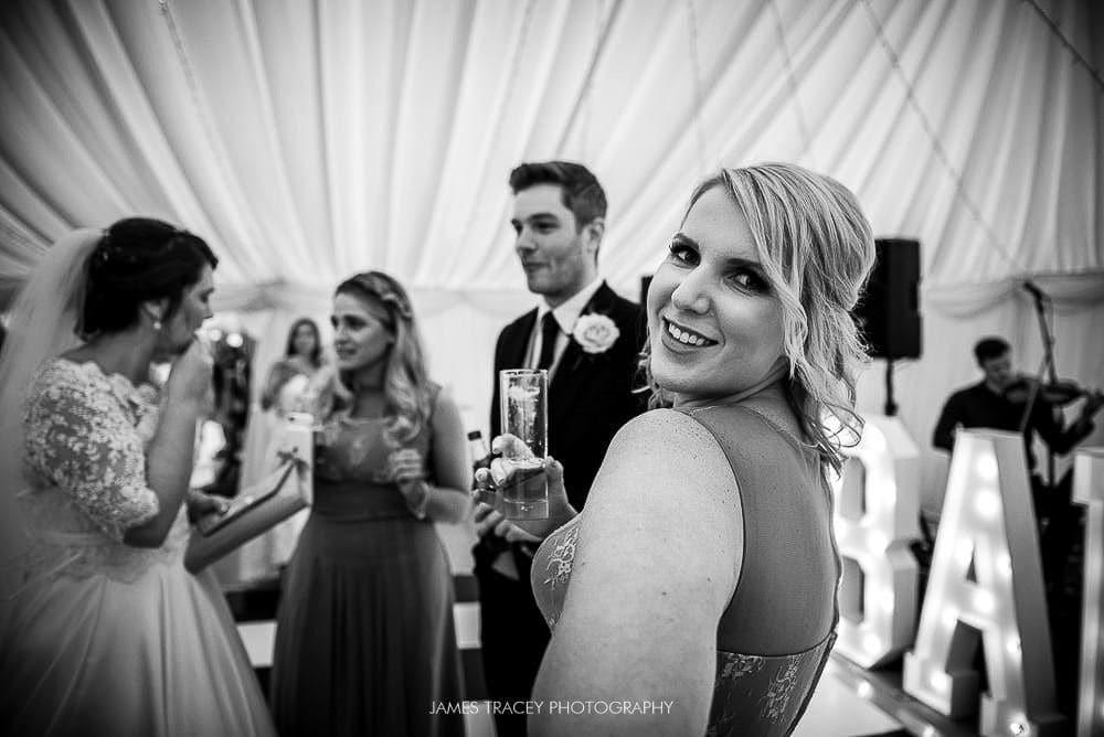 bridesmaid posing