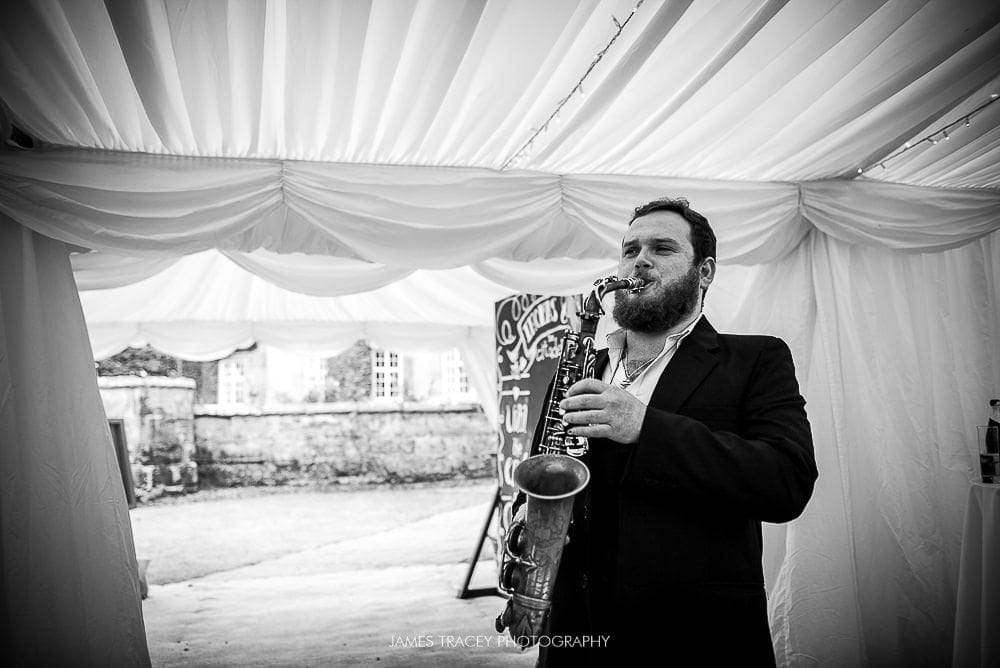 sam healey playing baker street on sax
