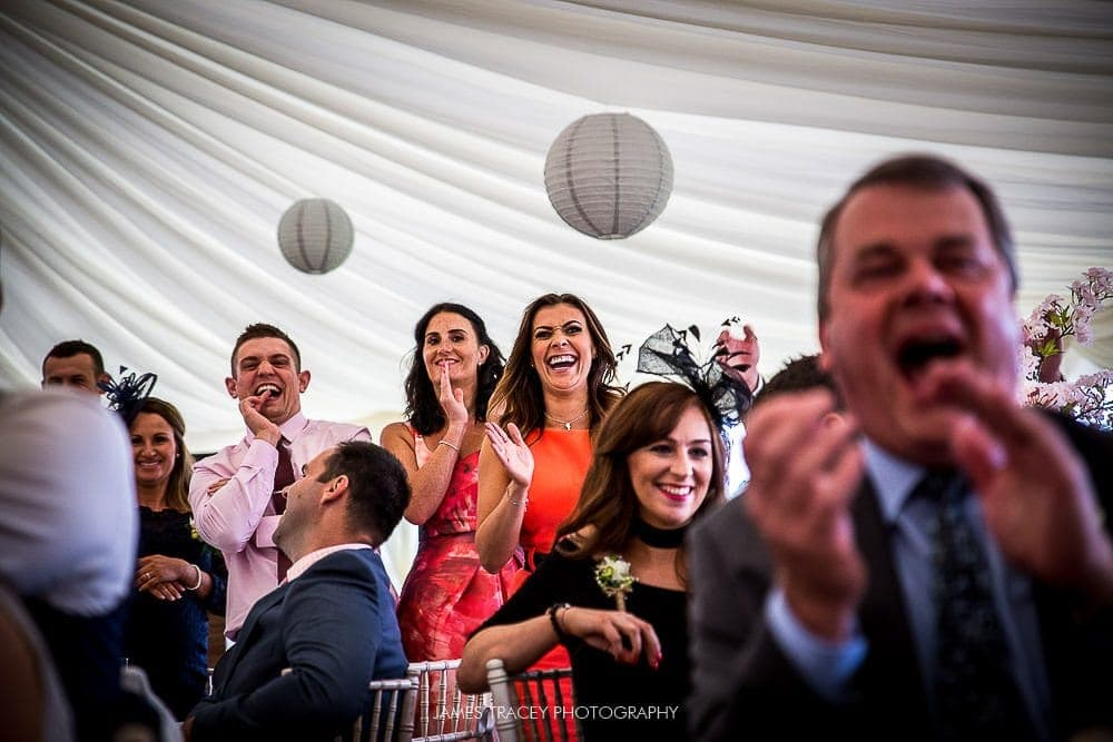 kym marsh laughing at best man speech