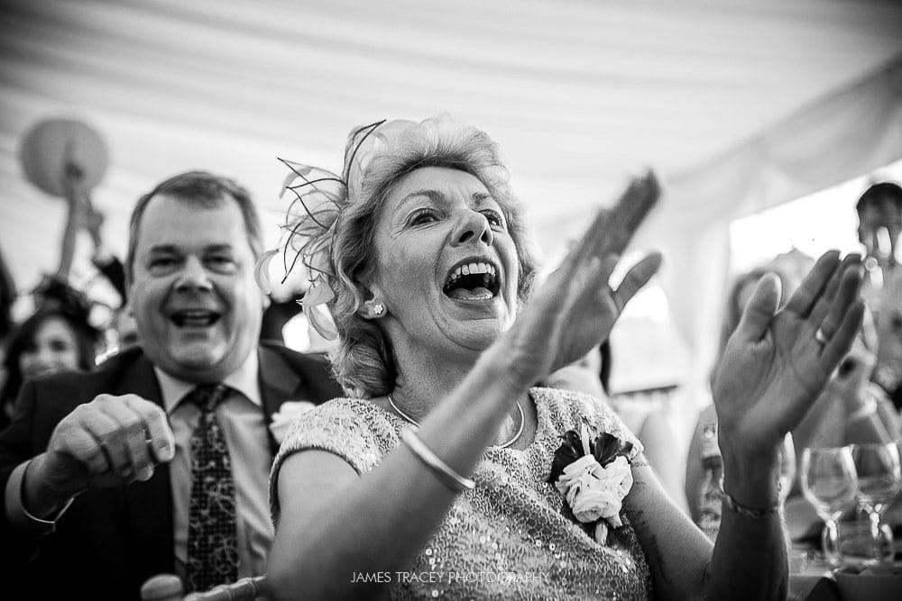 wedding guest lauging