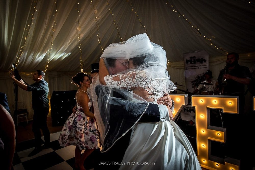 big hug after first dance