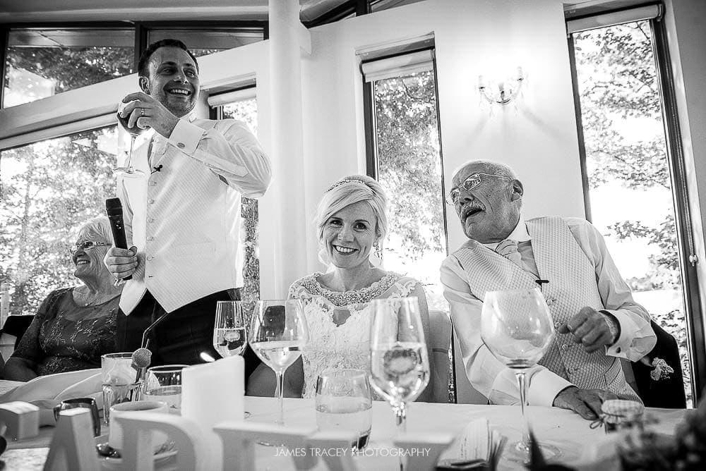 laughter in wedding speeches