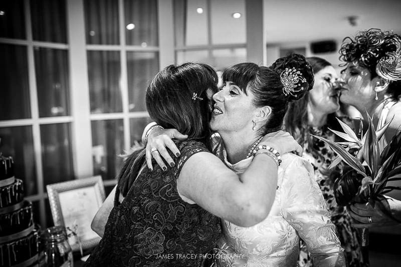more hugs at a wedding