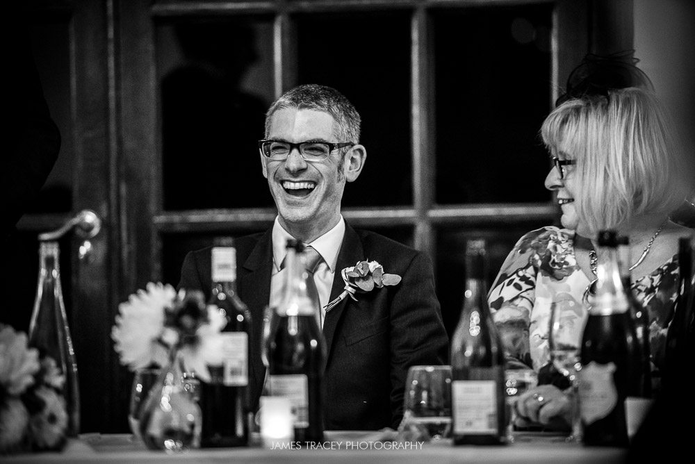 laughter in wedding speeches