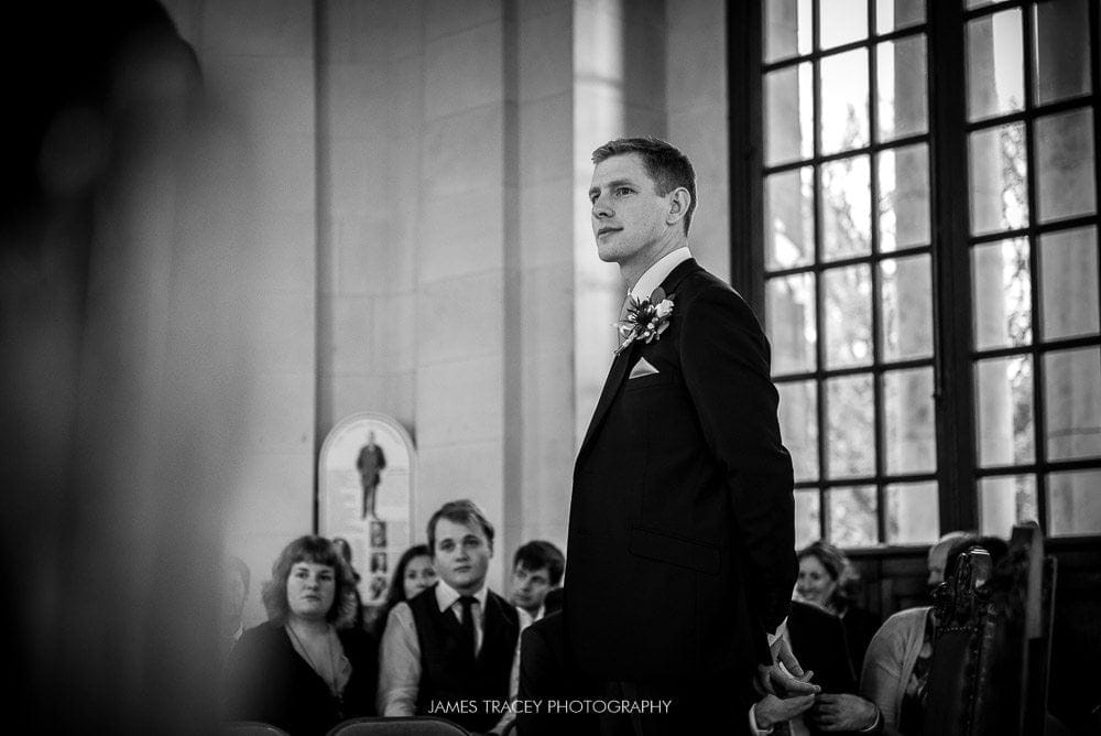nervoous wedding groom