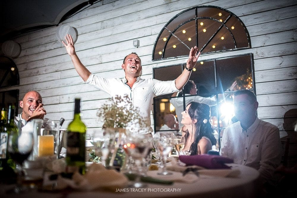 groom speech in ibiza