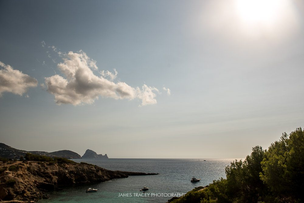 view from elixir shore club in ibiza