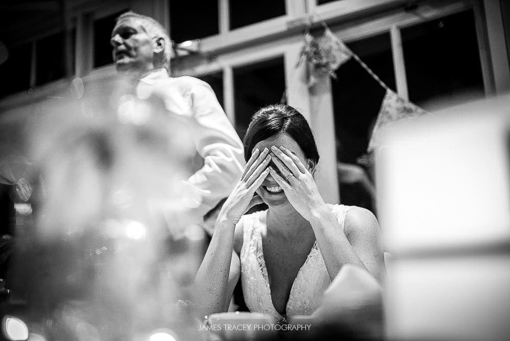embarrassed bride at broadoaks country house
