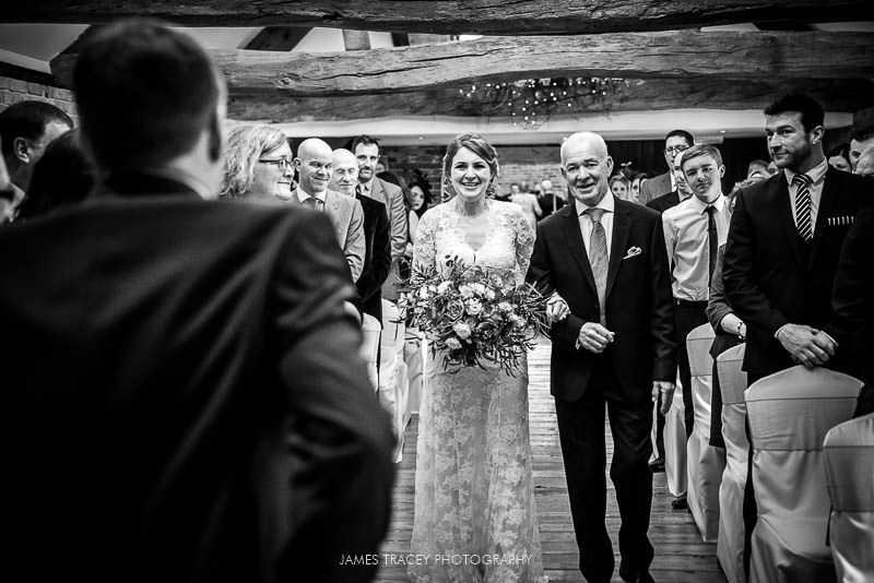 bride and her father at wedding at swancar farm