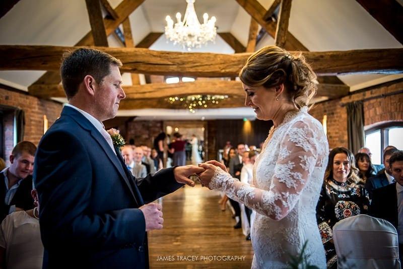 colour photo of wedding ring exchange