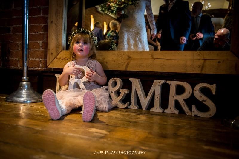 brides daughter at swancar farm wedding