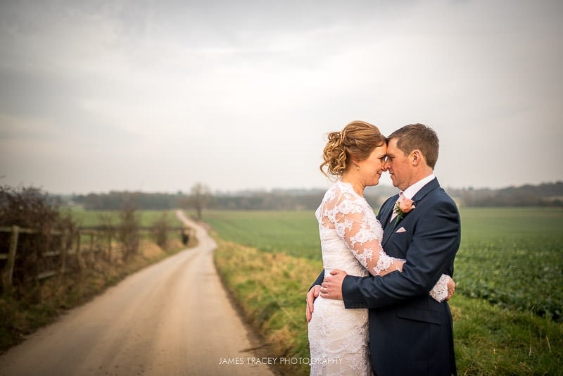 bride and groom at swancar farm