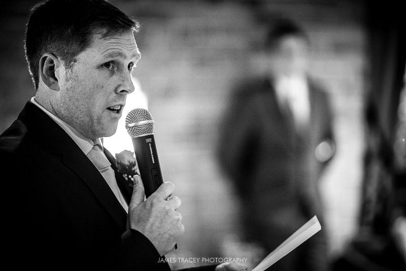 close up of grooms speech