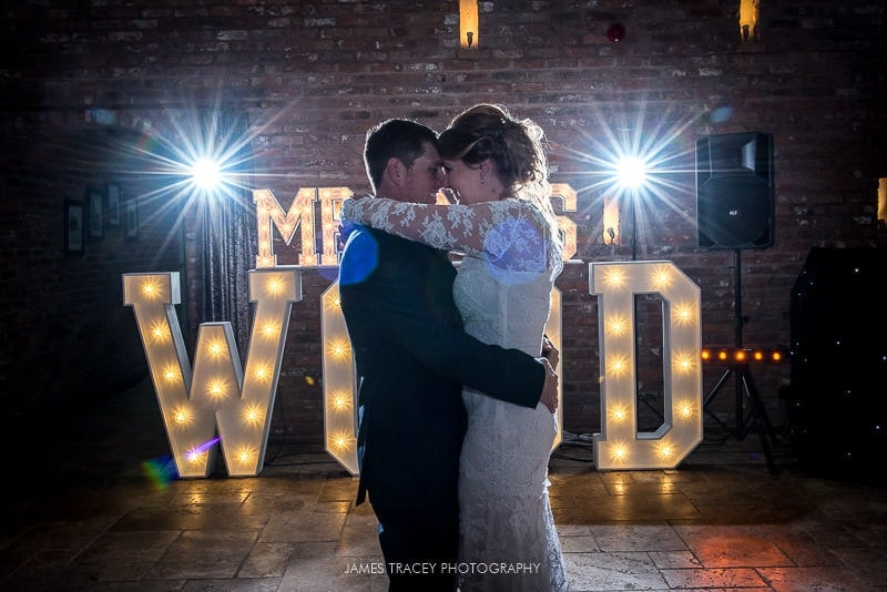 fisrt dance at swancar farm wedding