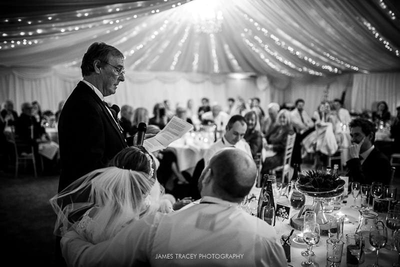 father of the bride speech and guests at woodlands hotel leeds