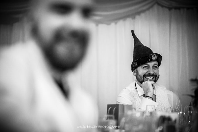 groom laughin