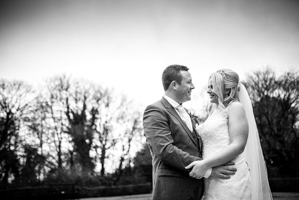 bride and groom wedding photos at eaves hall