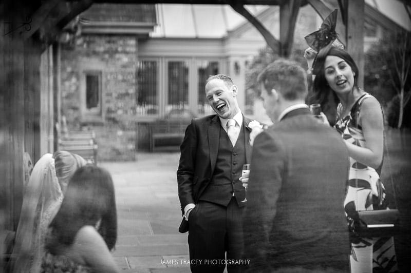 laughing best man