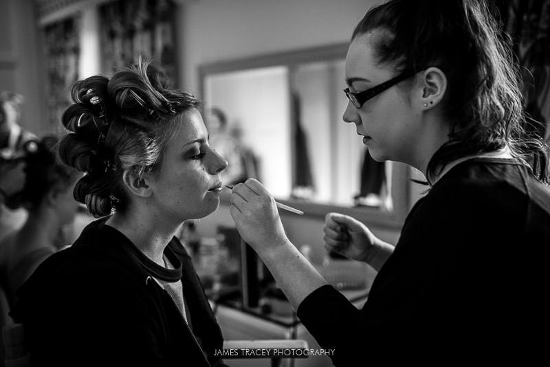 bridal make up at colshaw hall