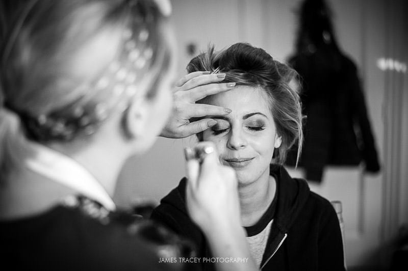 bride make up at colshaw hall wedding