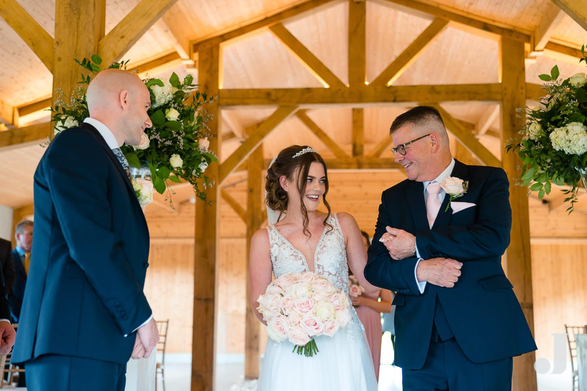 proud father of the bride at merrydale manor
