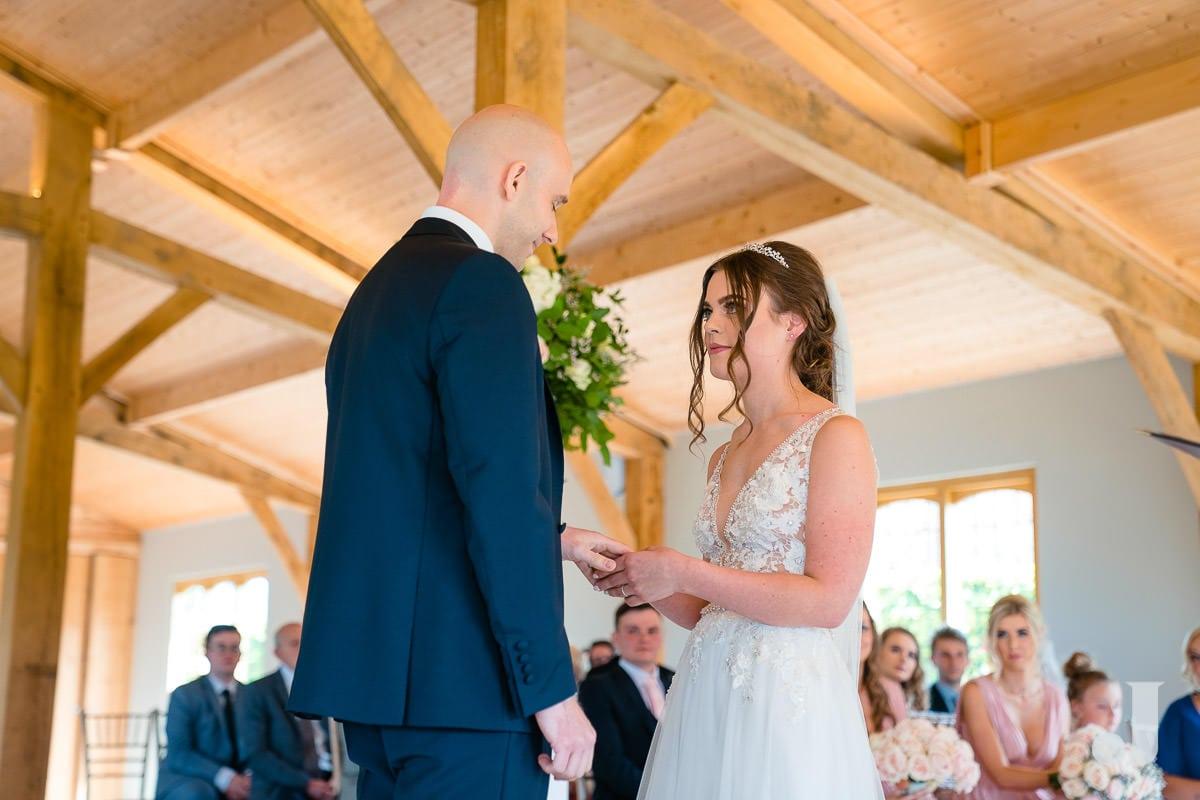 exchange of wedding rings at merrydale manor
