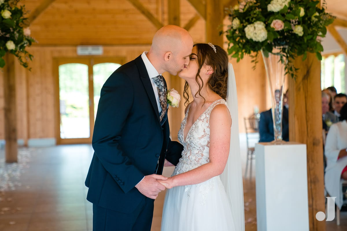 first wedding kiss at merrydale manor