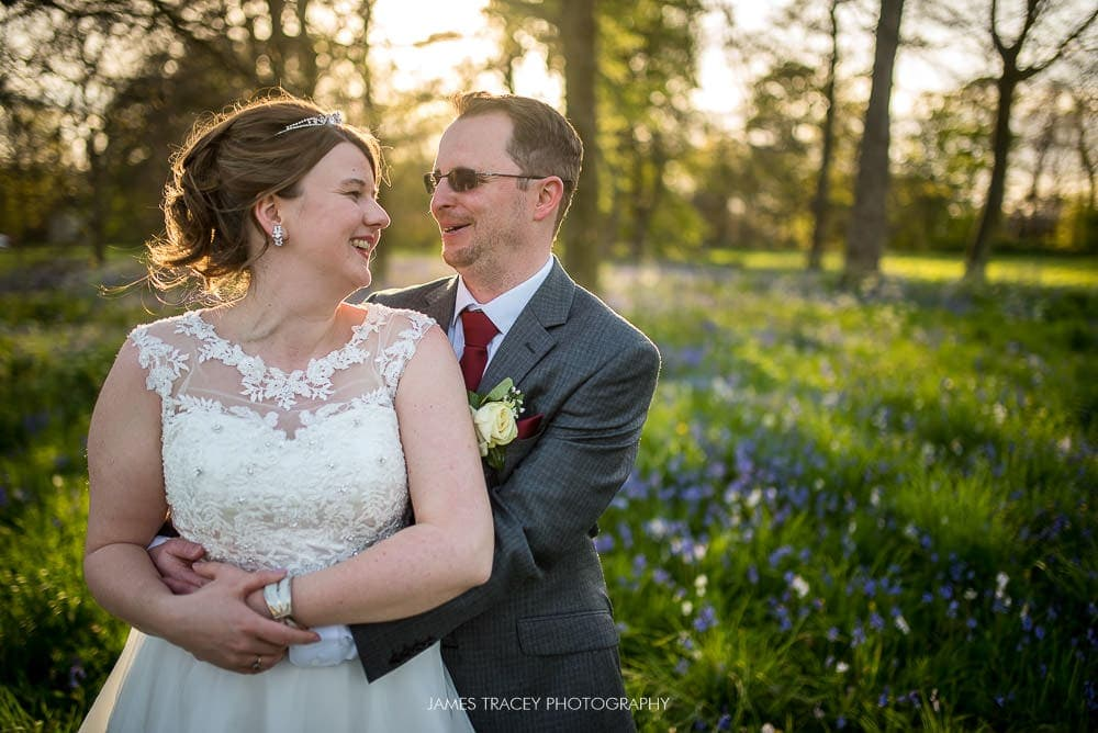 Sunset wedding photos at meols hall