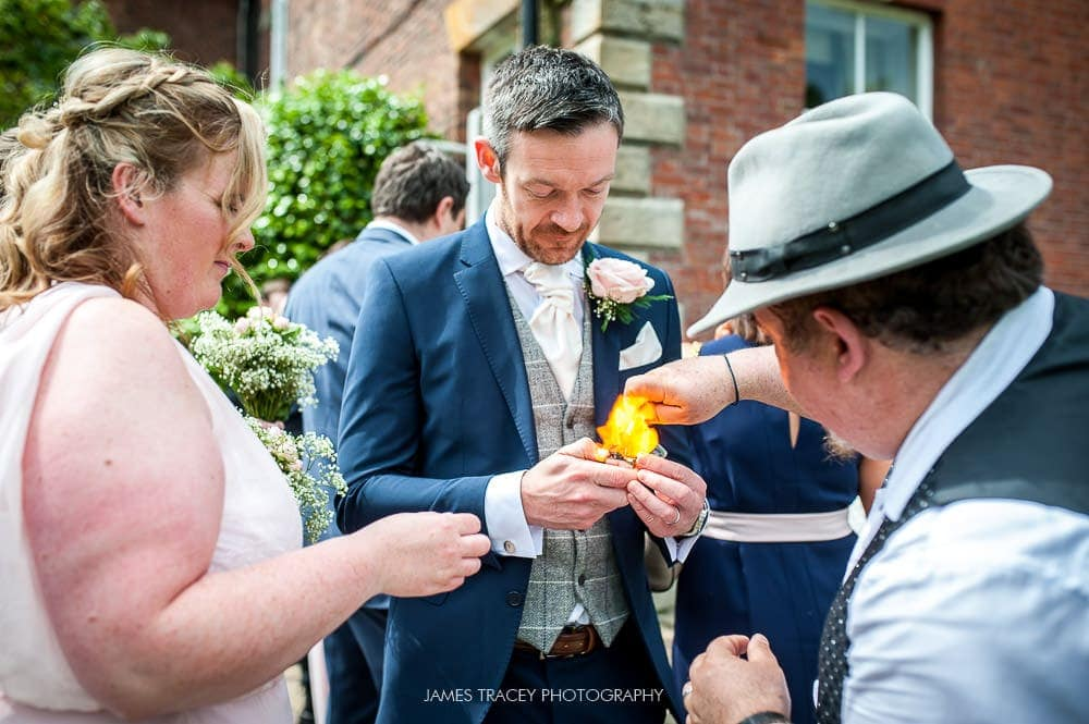 wedding magician at mottram hall