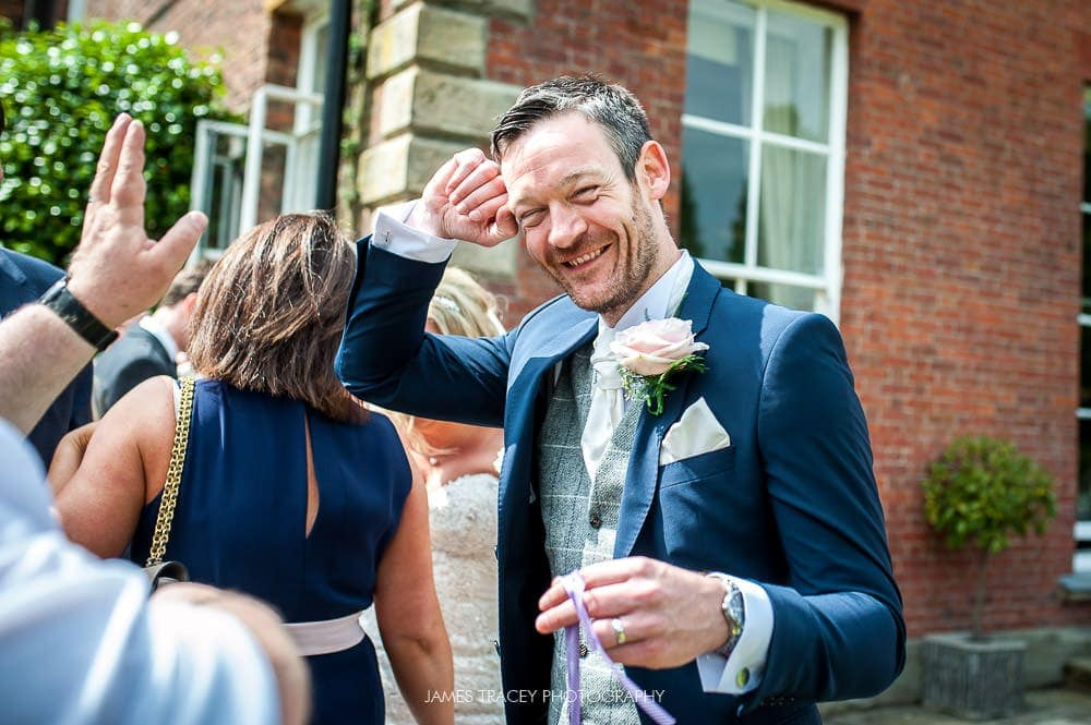 groom being silly