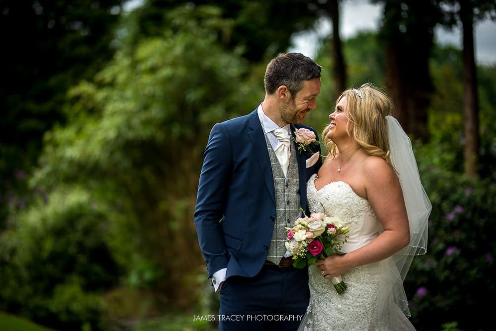 wedding couple at mottram hall