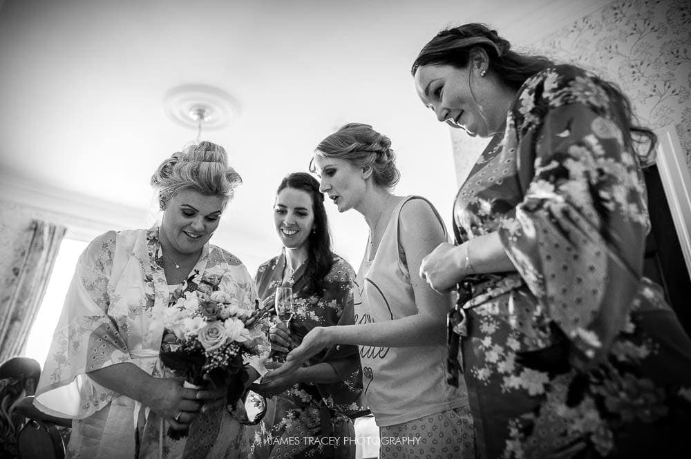 bride seeing her flowers