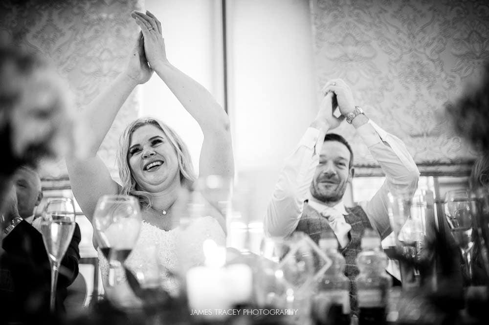 applauding at mottram hall wedding