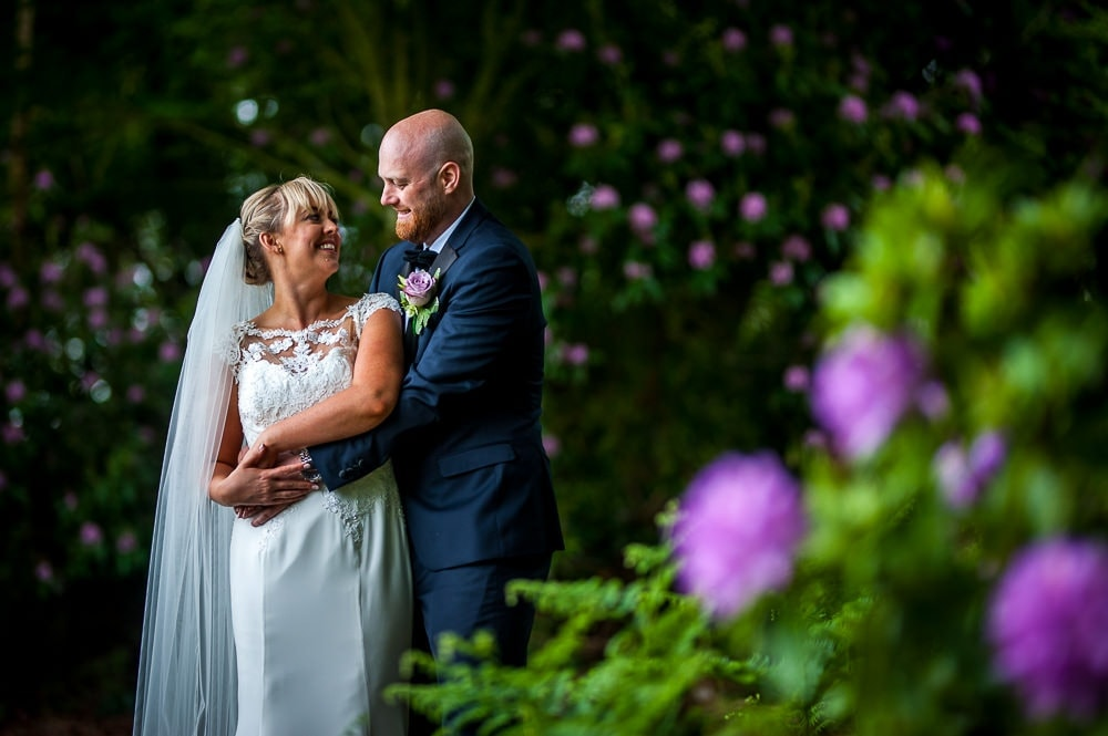 wedding photography in grounds of nunsmere hall