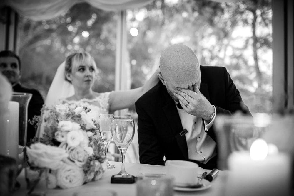 groom crying in speeches