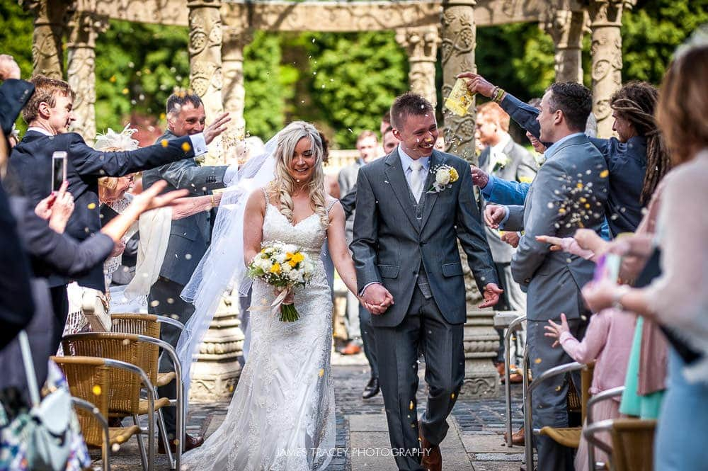 confetti at saddleworth hotel wedding