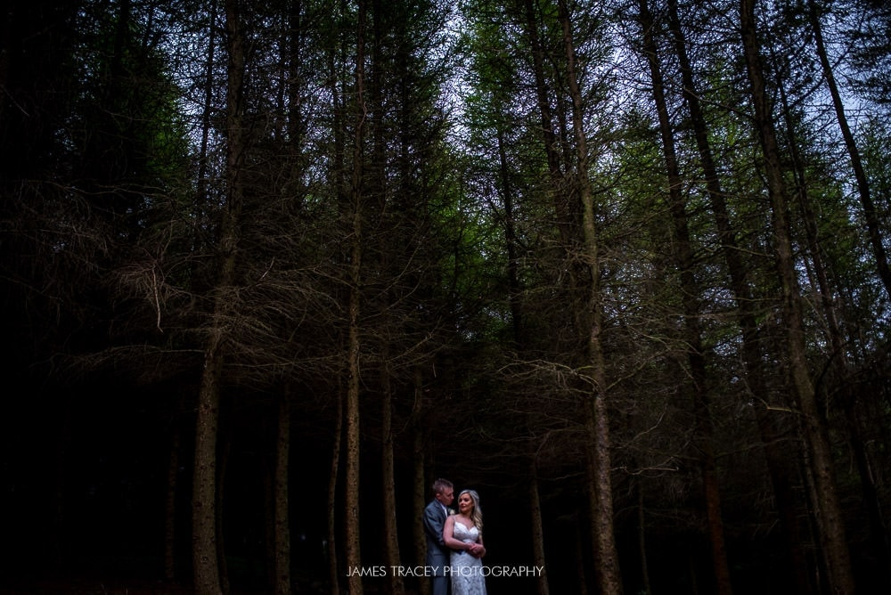 Dramatic couple photo at The Saddleworth Hotel