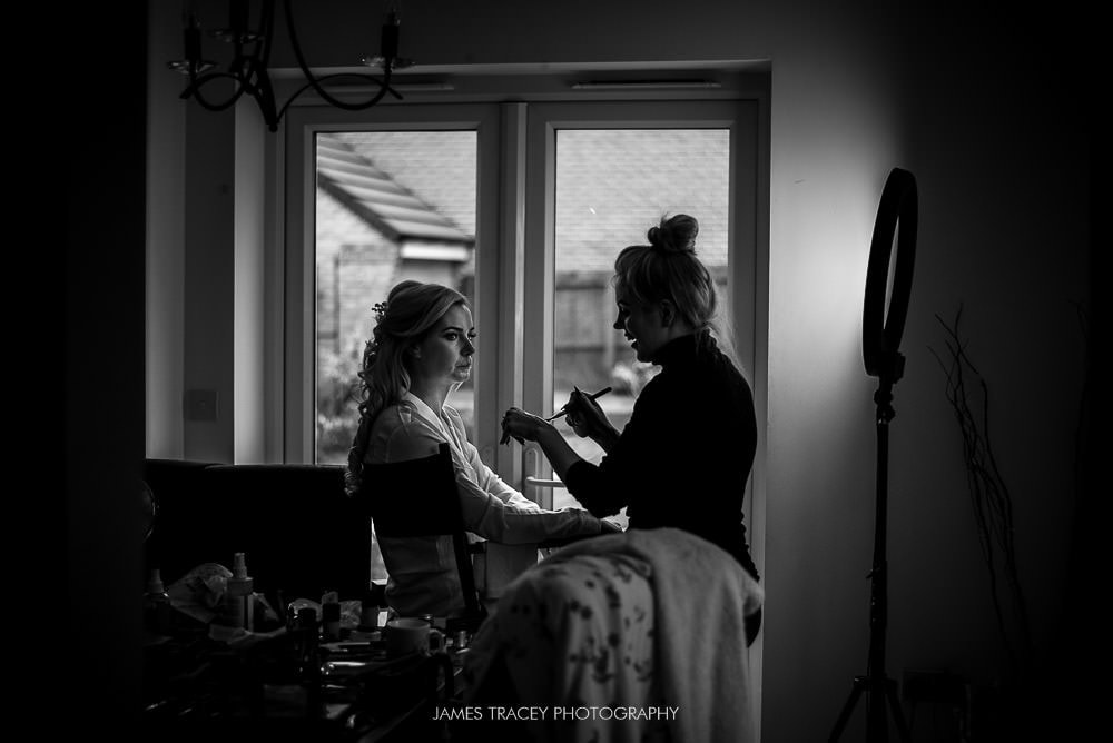 bride getting ready for a wedding