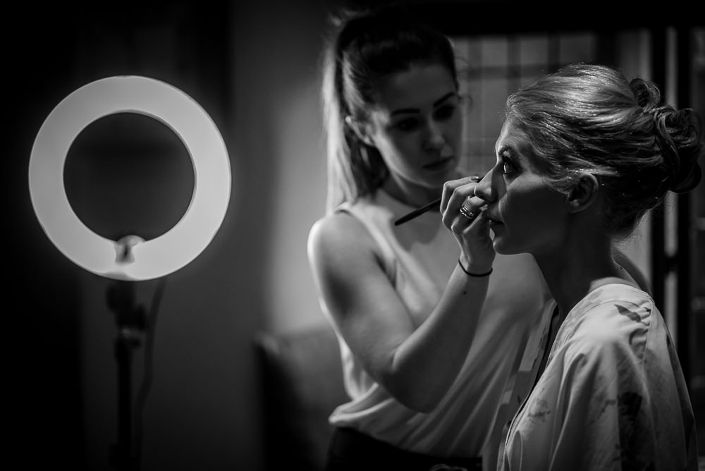 bridal make up at upper house hayfield wedding