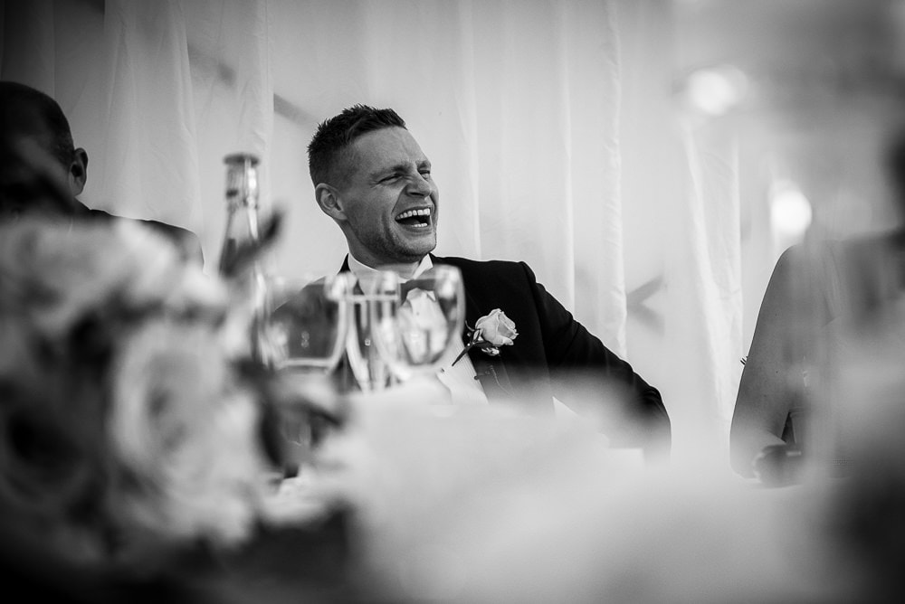 groom laughing at upper house hayfield