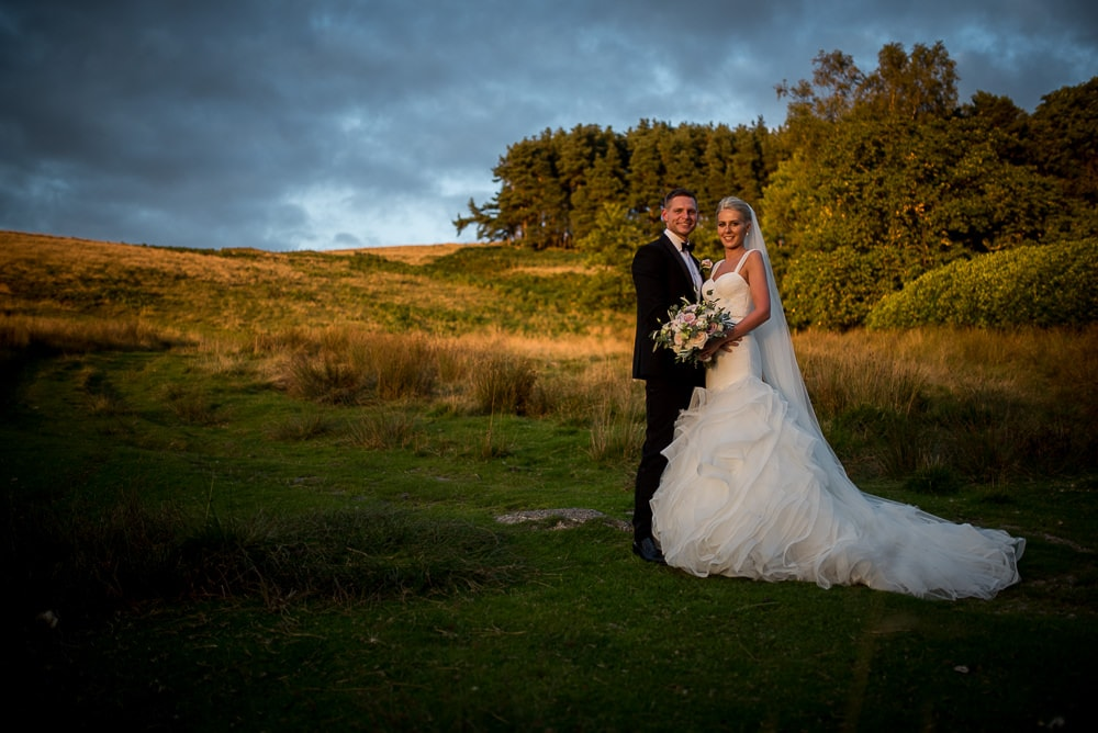 wedding couple at upper house hayfield