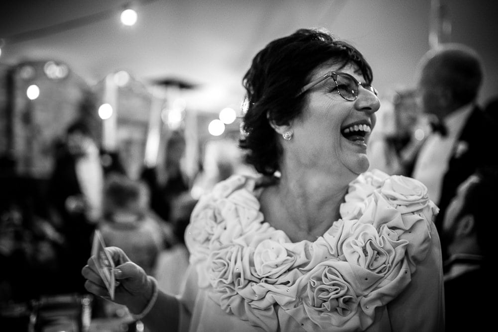 laughing mother of the bride