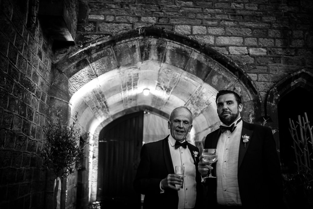 wedding guests who look like mobsters at upper house hayfield