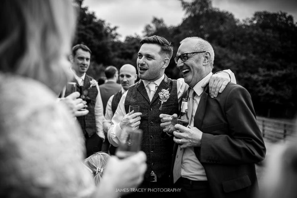 best man enjoying wedding day